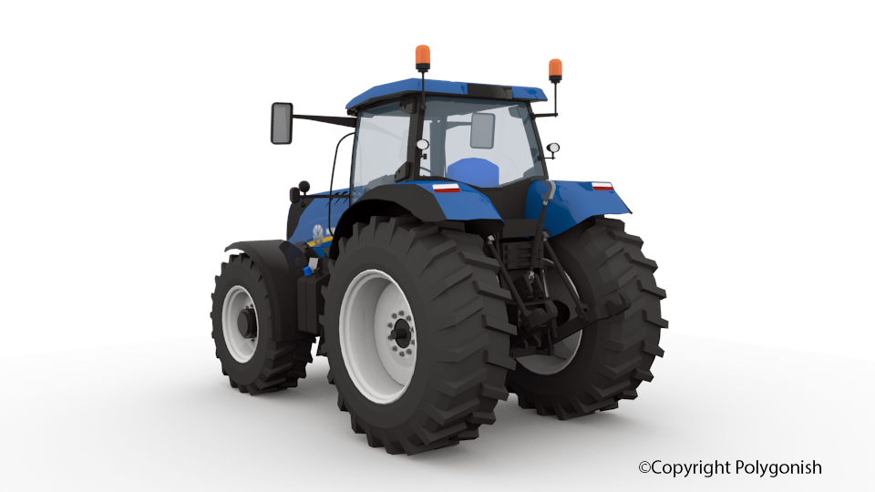 New Holland T7 Range 3D Model