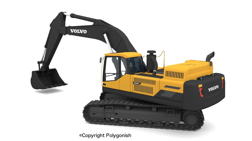 Volvo EC480D Excavator 3D Model