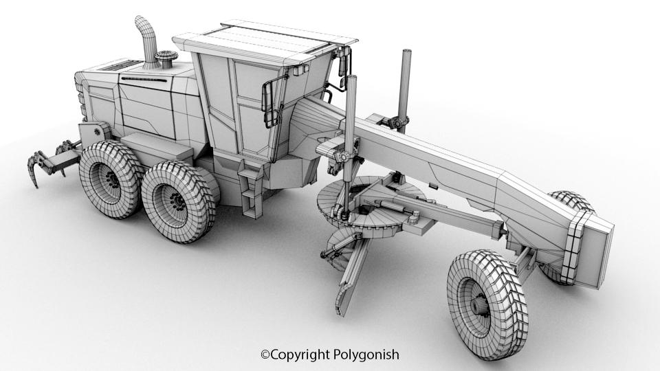 Volvo G930B Motor Grader 3D Model