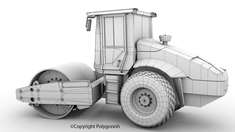 Volvo SD115 Drum 3D Model
