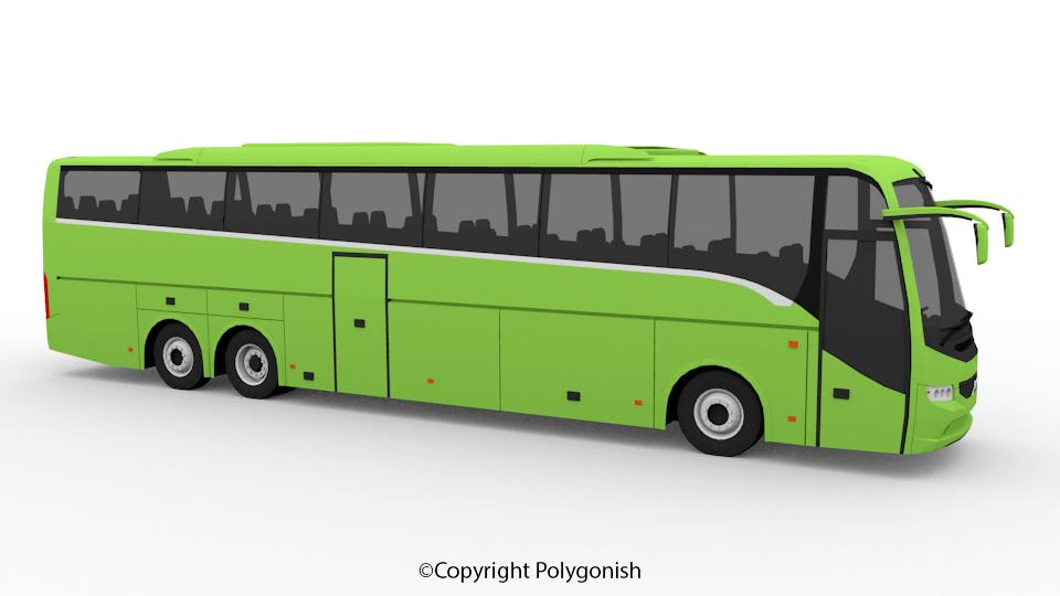 Volvo 9900 Bus 3D Model