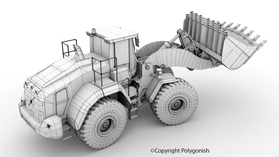 Volvo L250H Wheel Loader 3D Model