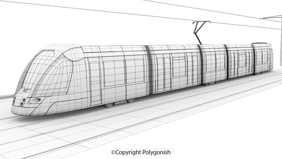 Citadis Tramway 3D Model