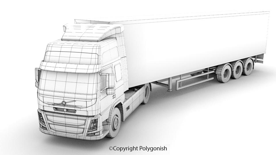 Volvo FM Truck 3D Model