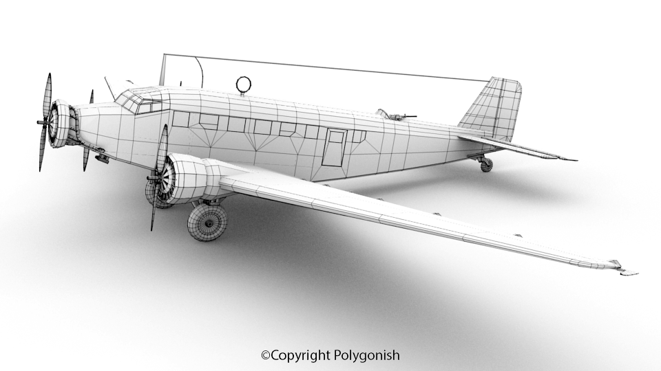Junkers Ju 52 Airplane 3D Model