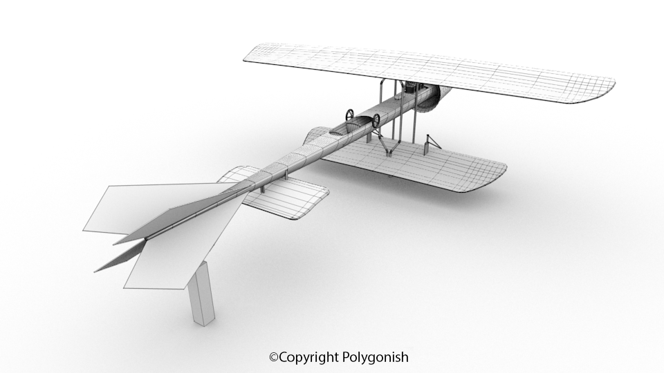Coanda-1910 Airplane 3D Model