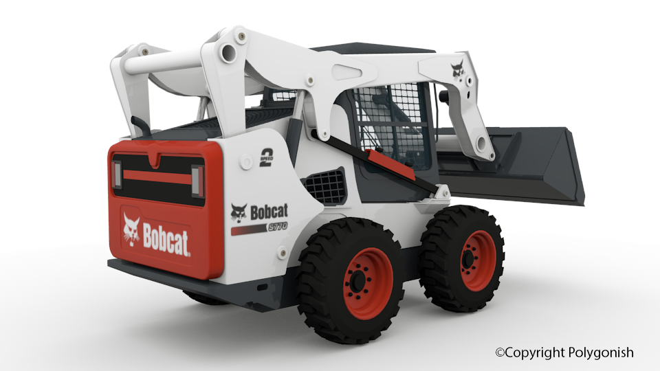 Bobcat S770 Skid Steer Loader 3D Model