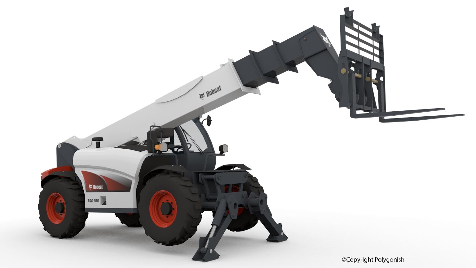 Bobcat T40180 Telehandler 3D Model