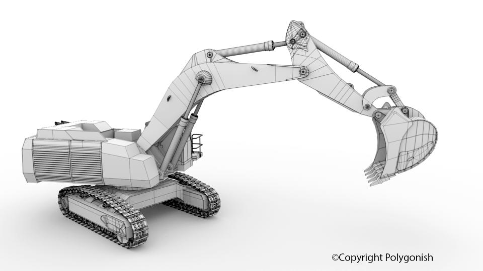 LIEBHERR R9100 3D Model