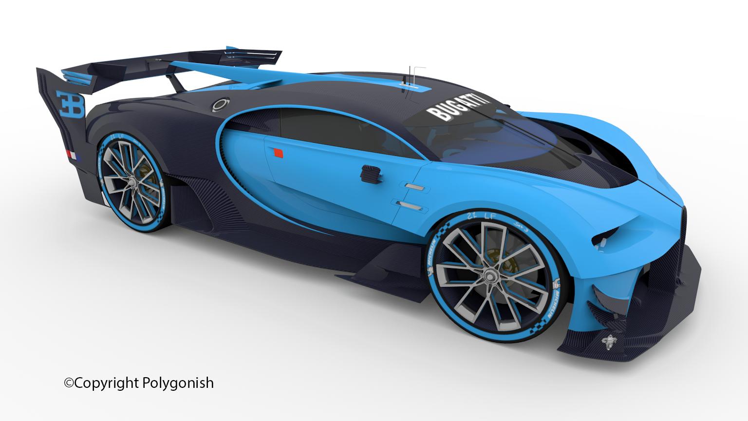 Bugatti Vision Gran Truism Concept 3D Model