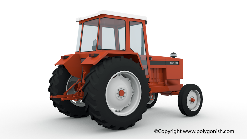 Renault 951 Tractor 3D Model