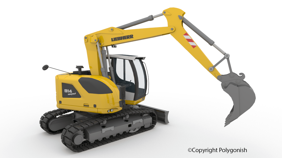 LIEBHERR R914 Excavator 3D Model