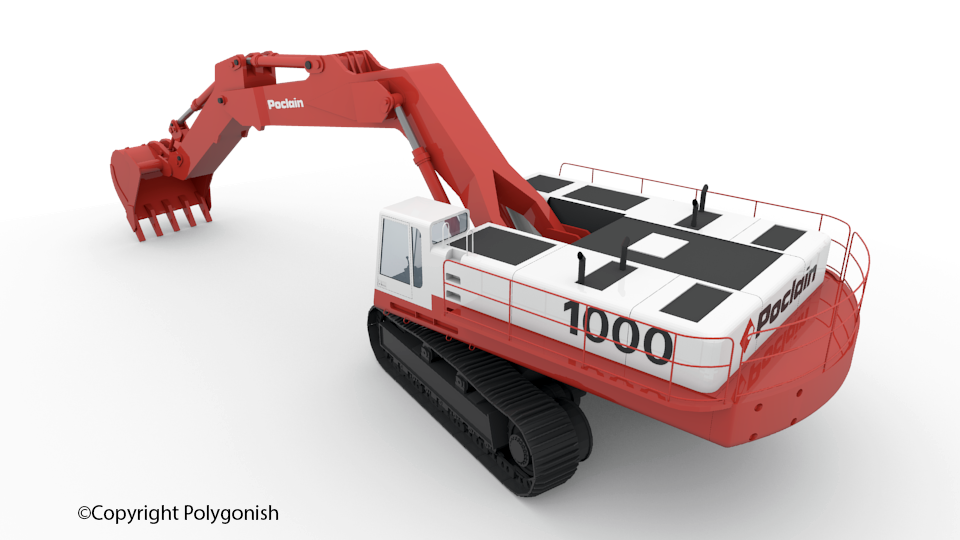 Poclain 1000 3D Model