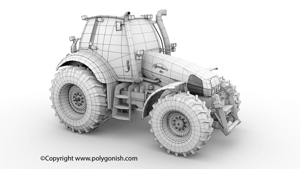 Deutz Fahr Agrotron 120 3D Model