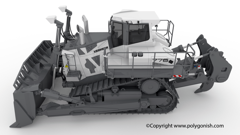 Liebherr PR 776 Crawler Tractor 3D Model