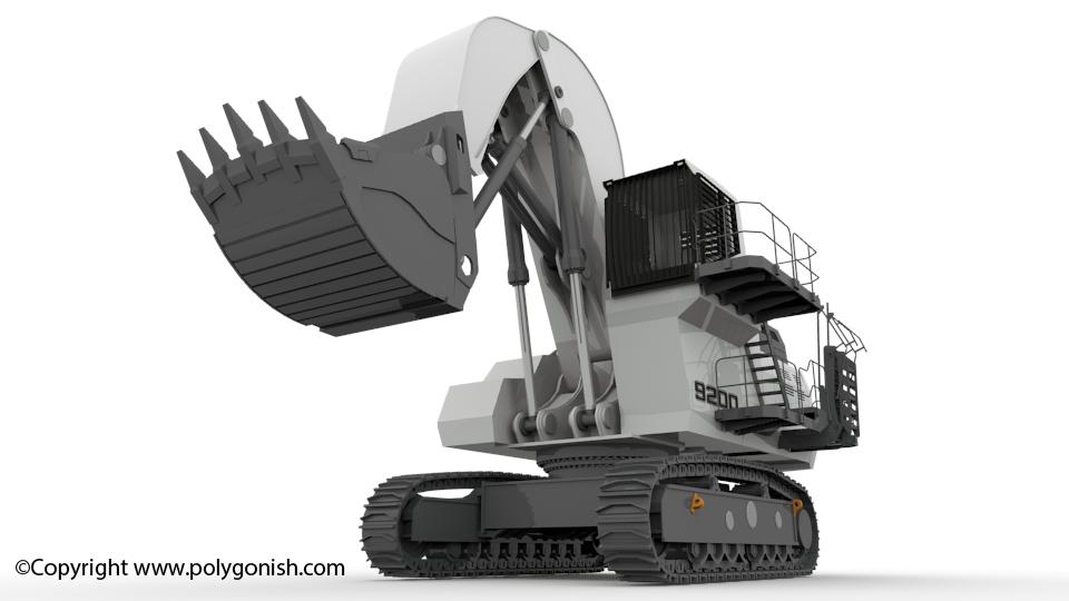 Liebherr R9200 Face Shovel Excavator 3D Model