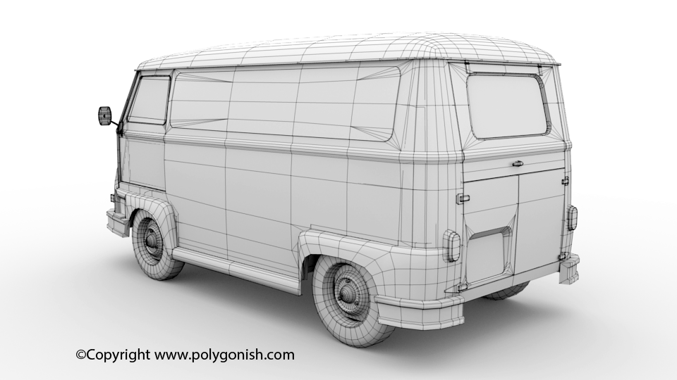 Renault Estafette 3D Model