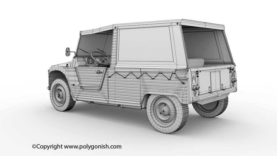 Citroen Mehari 3D Model