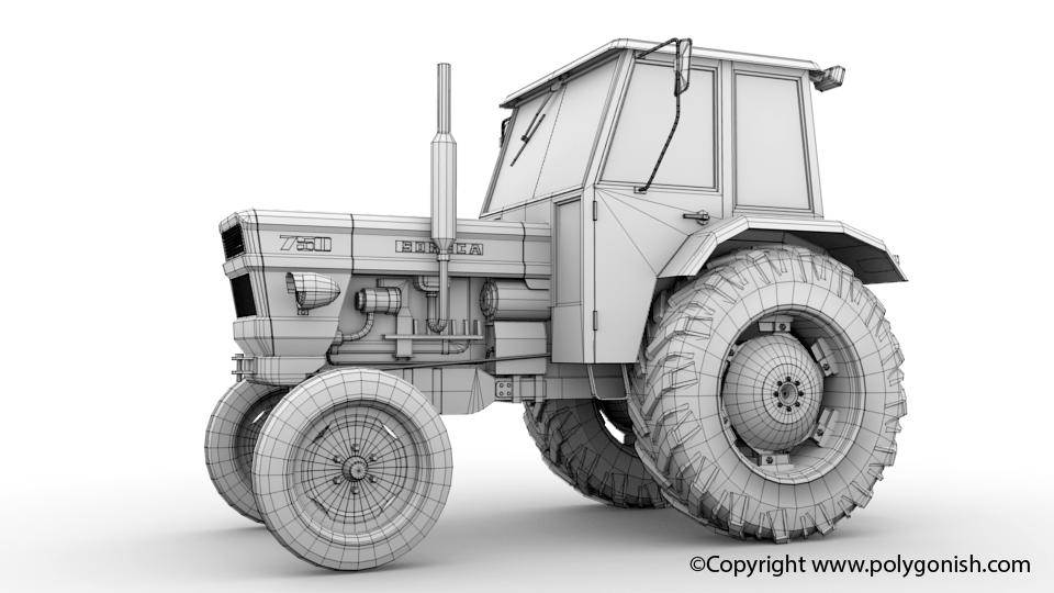 Fiat Someca 750 Tractor 3D Model