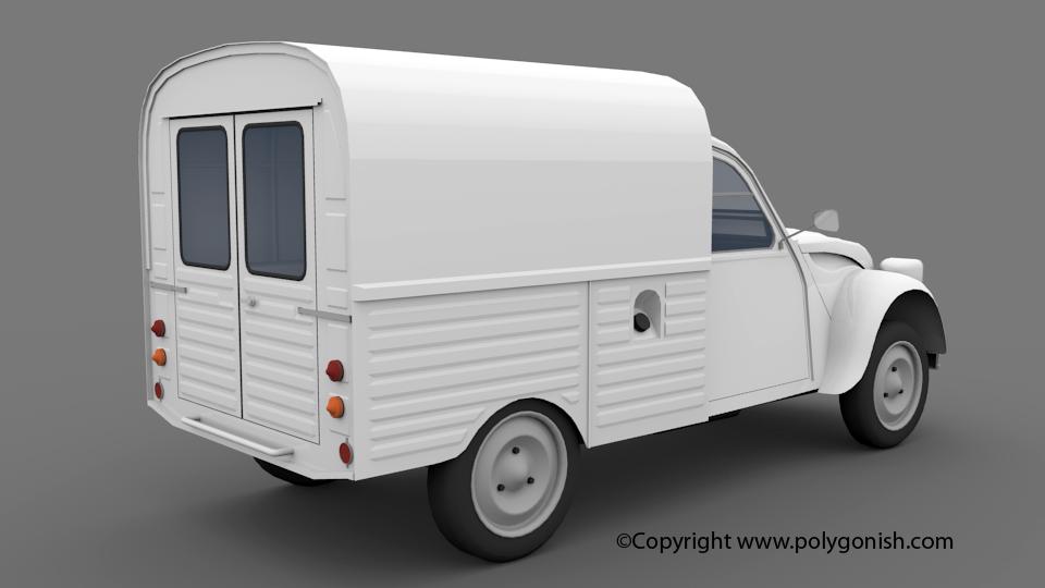 Citroen 2CV Van 3D Model