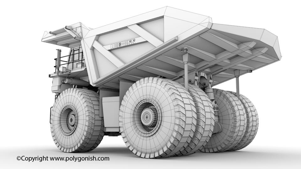 Liebherr T 284 Mining Truck 3D Model
