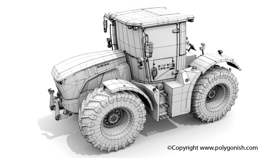 JCB 4220 3D Model