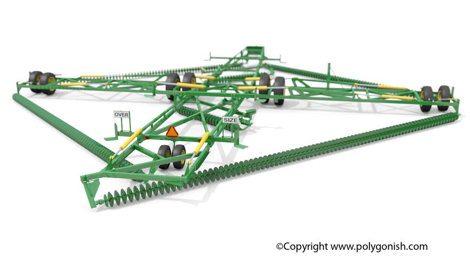 Kelly Engineering Diamond Chain Harrow 60CT 3D Model