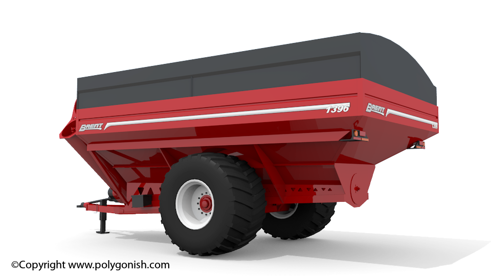Brent 1396 Grain Cart 3D Model