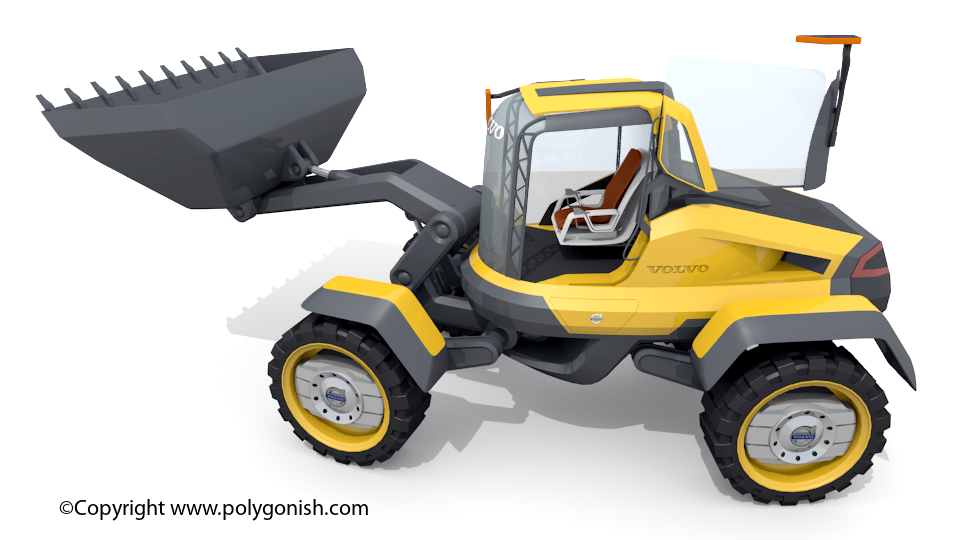 Volvo GRYPHIN - Loader concept machine 3D Model
