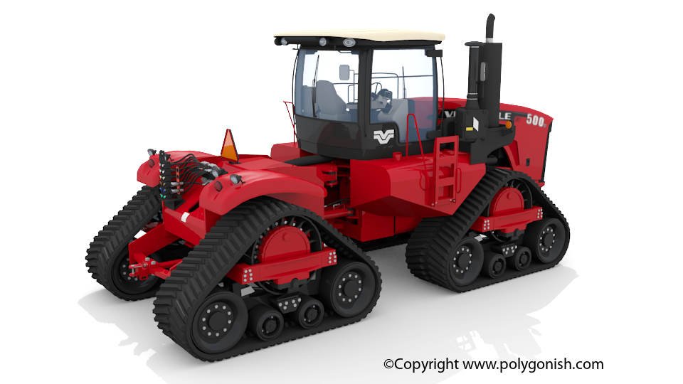 Versatile 500 DeltaTrack Tractor 3D Model