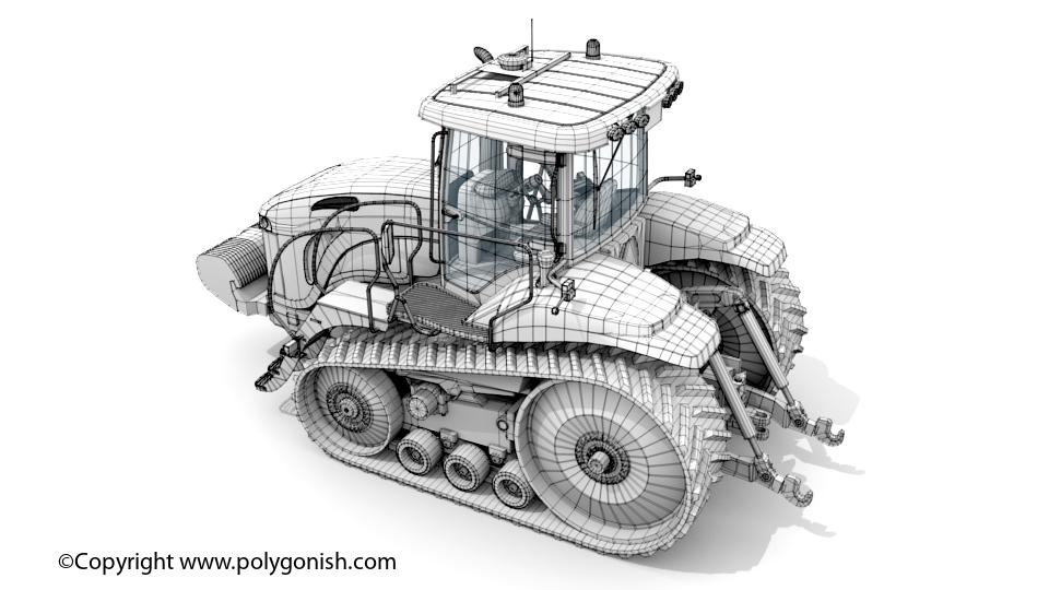 Challenger MT755C Tractor 3D Model