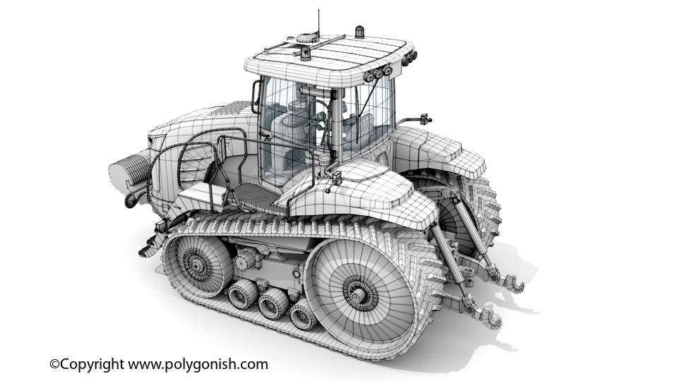 Challenger MT755E Tractor 3D Model