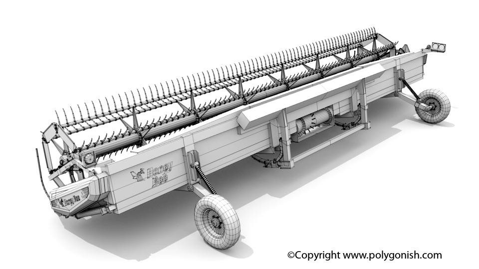 Honey Bee SP36 Grain Belt Header 3D Model