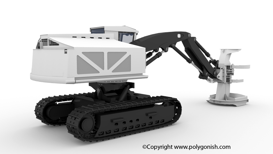 Feller Buncher 3D Model