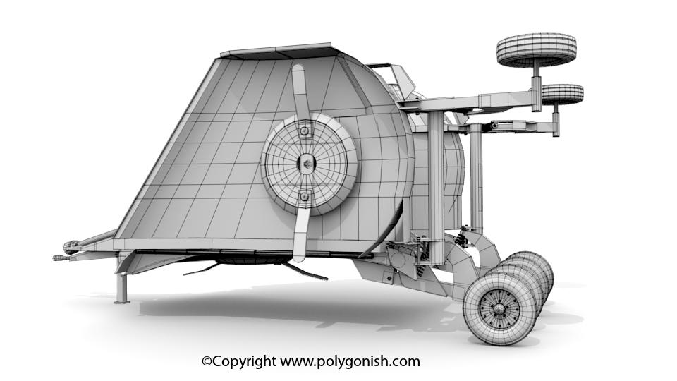 Rotary Cutter 3D Model