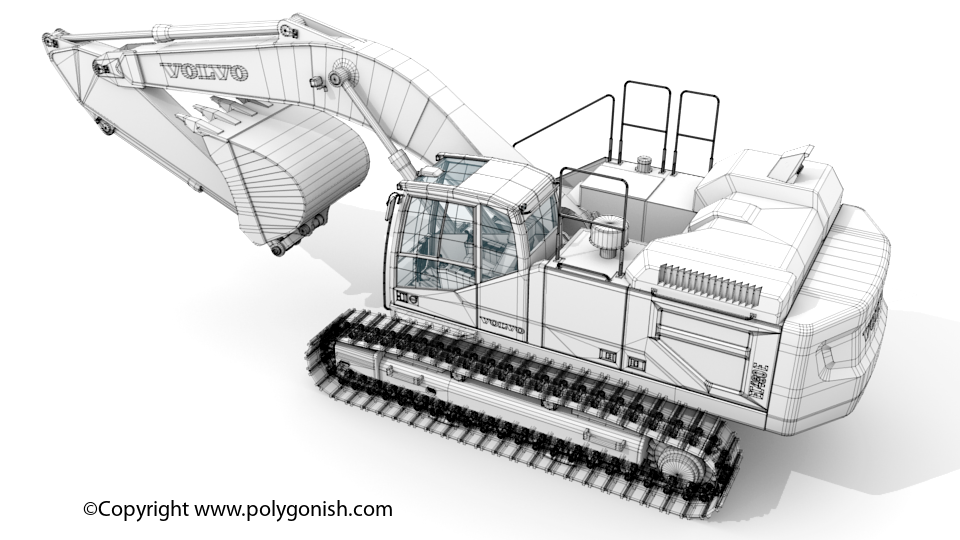 Volvo EC480E Excavator 3D Model