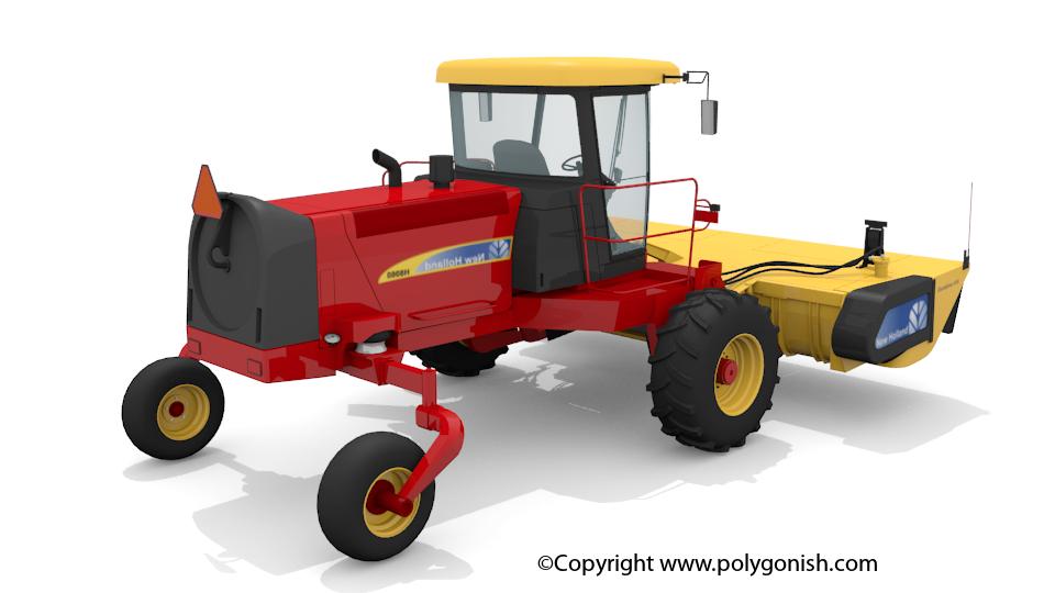 New Holland H8060 Speedrower 3D Model