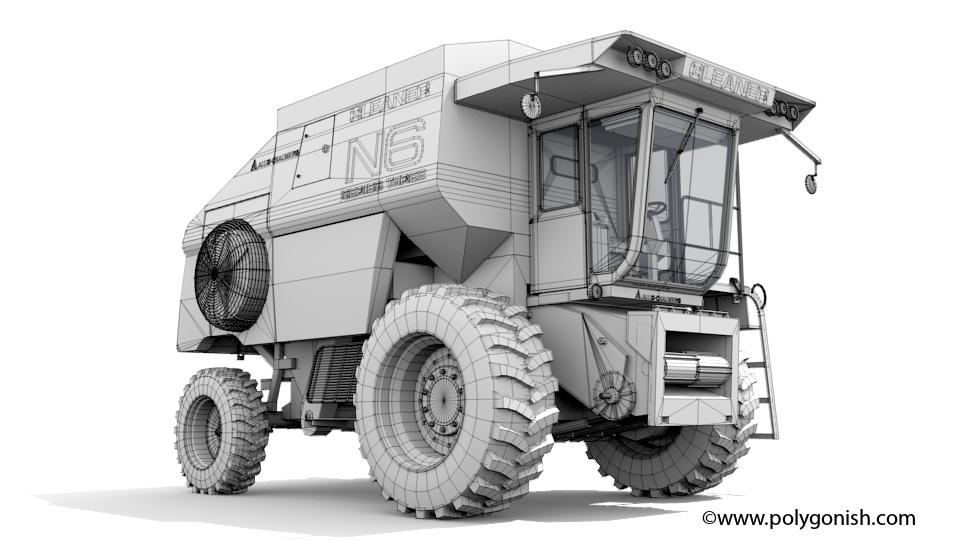 Gleaner N6 Combine 3D Model