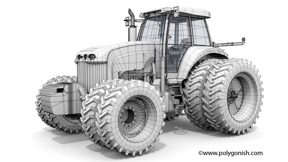 Versatile 305 Tractor 3D Model