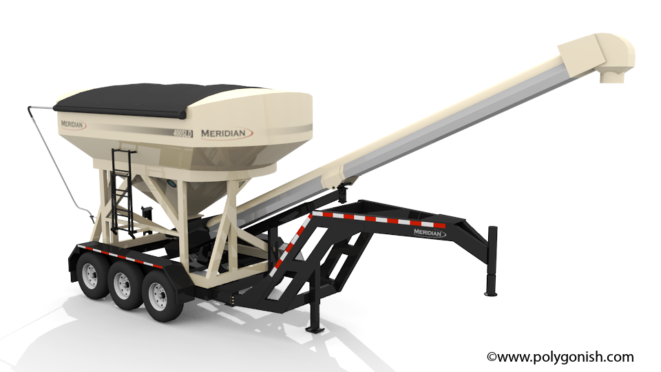 Meridian 400SLD Seed Tender 3D Model