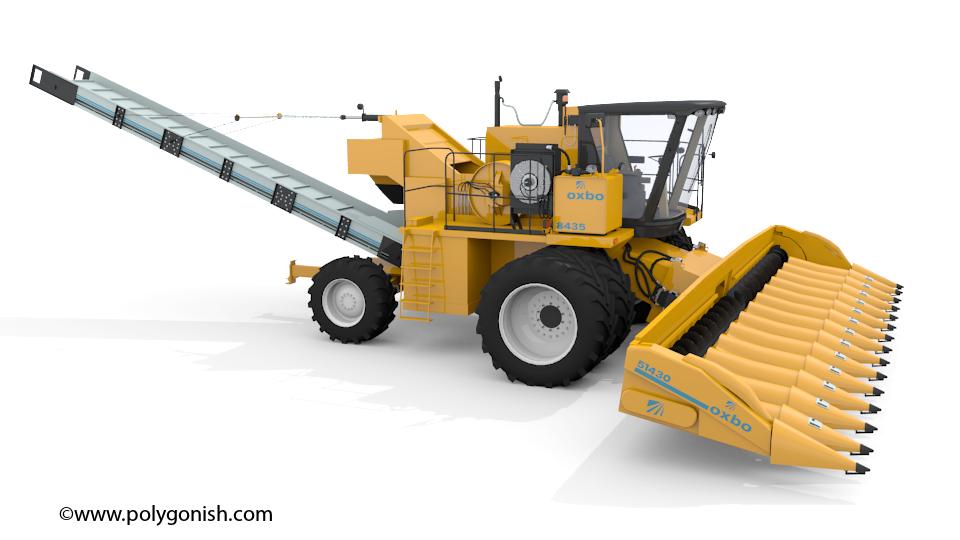 Oxbo 8435 Combine 3D Model