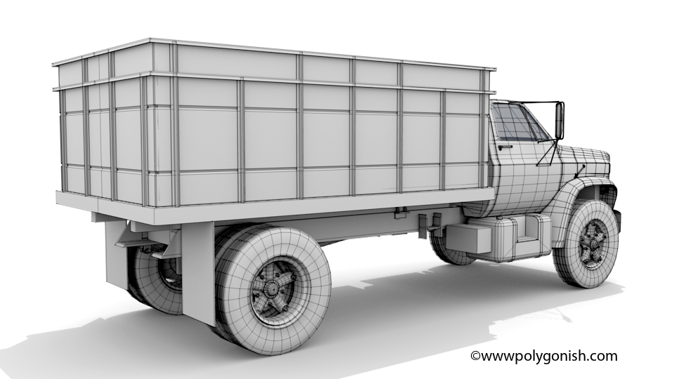 1979 Chevy C70 Dump Truck 3D Model