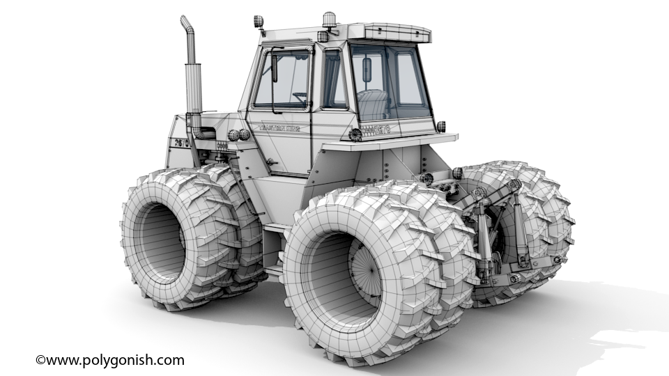 Case 2670 Tractor 3D Model