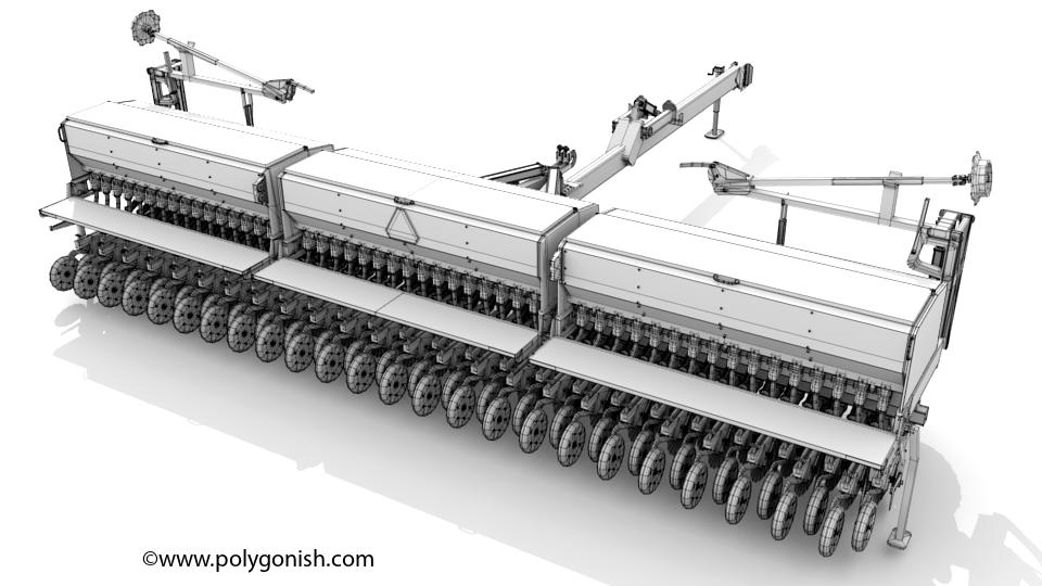 Great Plain 3S-3000HD Drill 3D Model