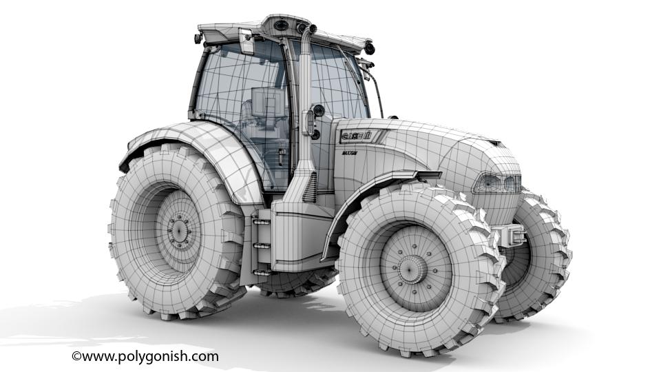 Case IH Maxxum 150 3D Model