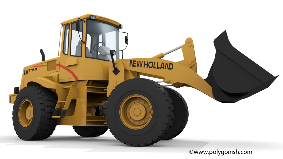 New Holland LW170.B Wheel Loader 3D Model