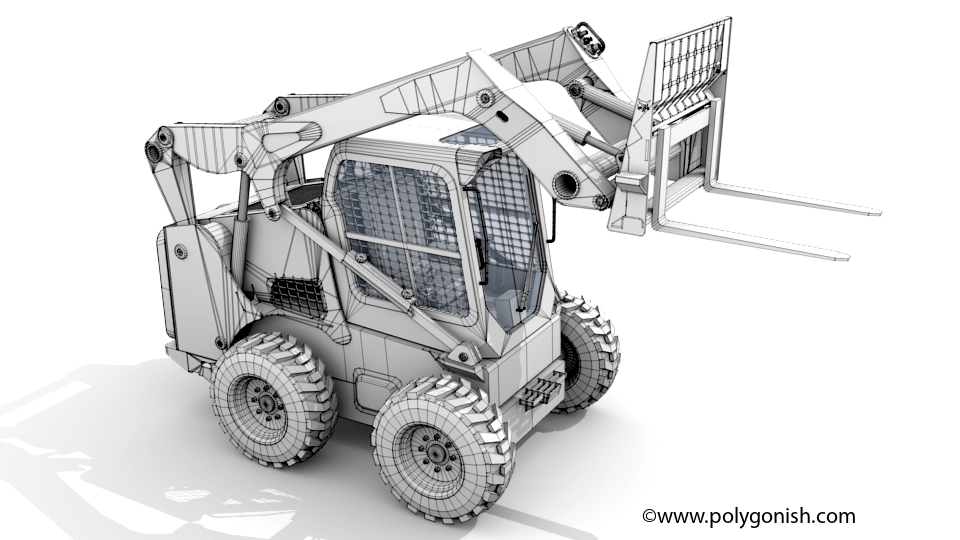 Bobcat S770 - Fork Attachment 3D Model