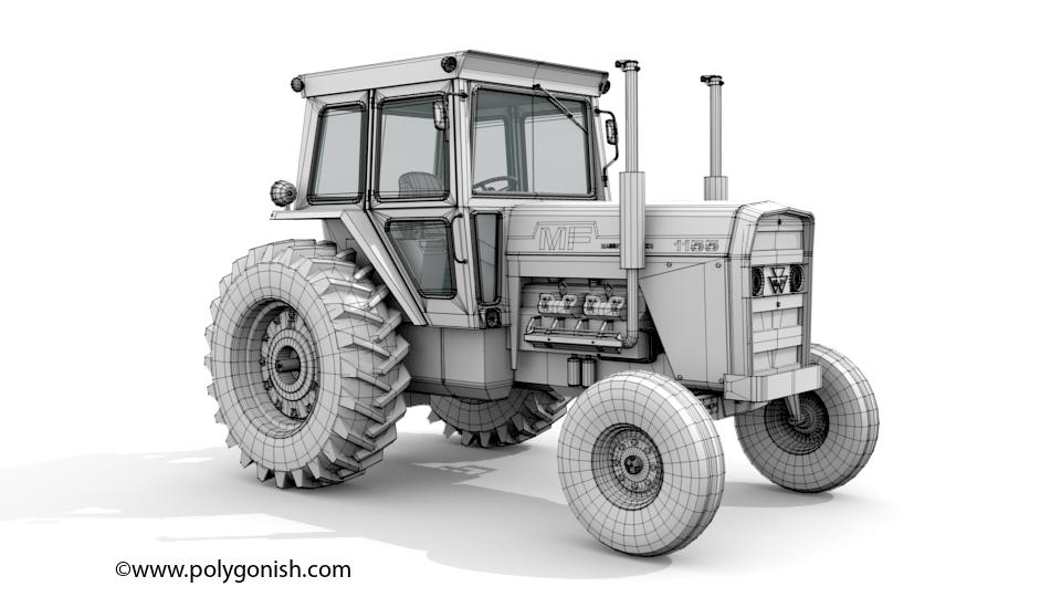 Massey Ferguson 1155 Tractor 3D Model