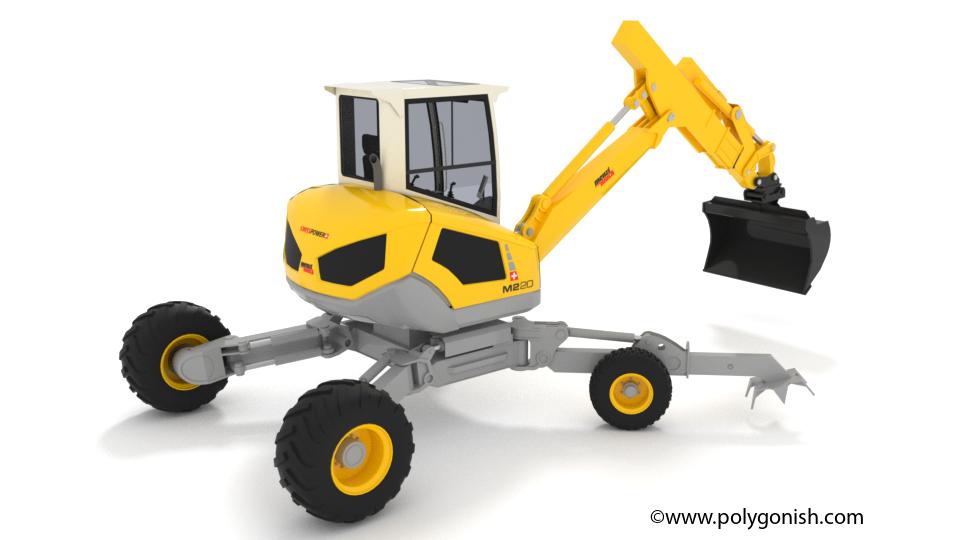 Menzi Muck M220Walking Excavators 3D Model