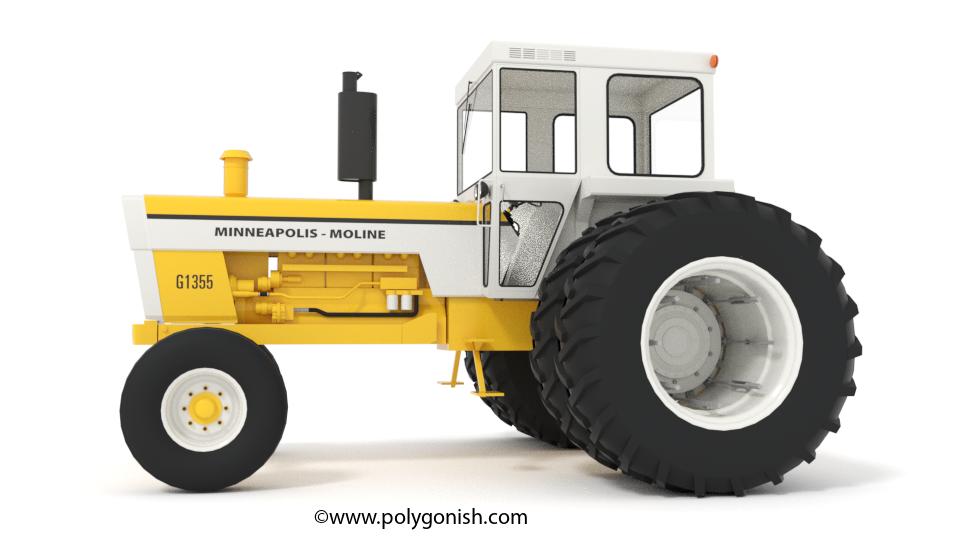 Minneapolis Moline Models : Minneapolis moline g tractor d model polygonish store